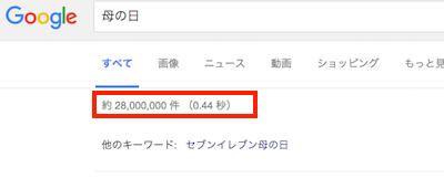 Google 母の日検索